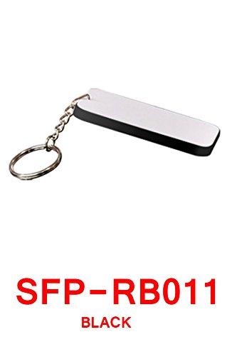 (15 Rectangular Keyring rectangular black BLANK SUBLIMATION HEAT TRANSFER POLYMER)