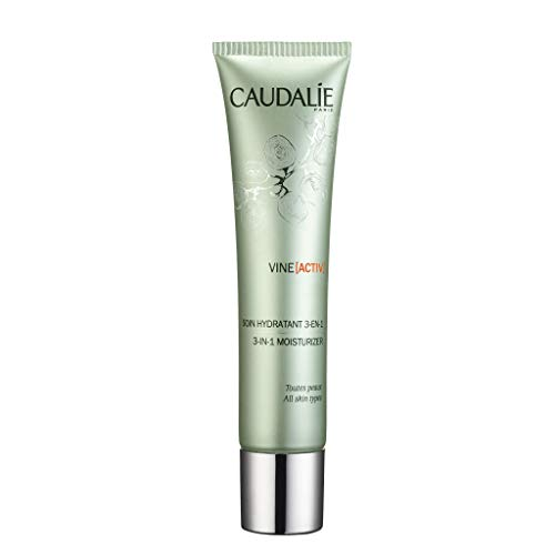 Caudalie Vine activ 3-in-1 Daily Face Moisturizer. Anti-Pollution, Anti-Wrinkle, Healthy Glow. Morning and Night Hydration Cream for Women 1.3 Ounce 40 Milliliter