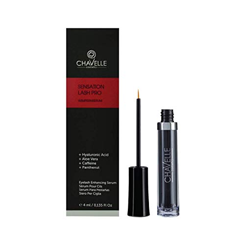 Eyelash Growth Serum Made in Germany Natural Highly Effective Enhancer and Booster for Longer Eyelashes and Thicker Eyebrows I 0.135 Fl.Oz Sensation Lash Pro