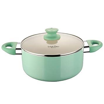 COOKSMARK Lovepan Beets Pots and Pans Set, Tiffany Blue