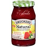 Smucker's Natural Strawberry Fruit Spread 17.25 oz (Pack of 12)