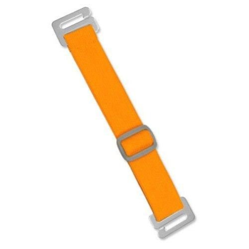 Neon Orange Anti-Microbial Adjustable Arm Band Straps - 100pk by MyBinding.com