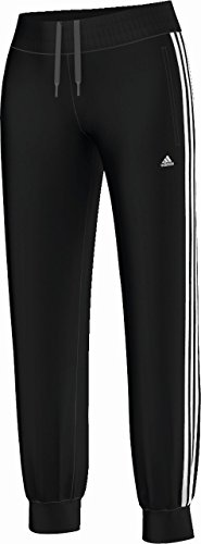 adidas Essential de 3 rayas BR Pantalones Mujer Basic Black/WHT, medium