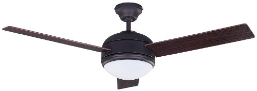 Canarm LTD Calibre ORB 48 Frosted Glass 1  Bulb Light Kit, 48-Inch Ceiling Fan with 3 Blades, Walnut/Medium Oak