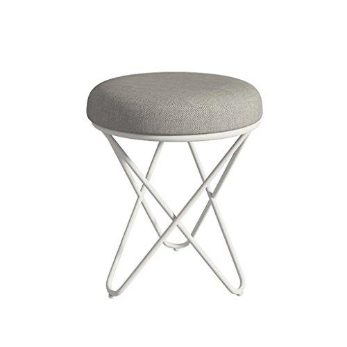 LIU RUOXI Gray Vanity Stool Retro Line Design Makeup Bench Dressing Stool Pad Cushioned Chair Piano ()