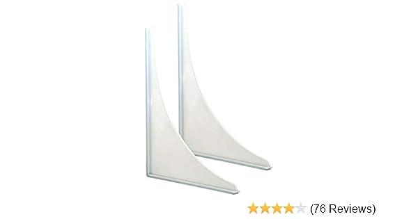 VTurboWay 4 Pack Tub Splash Guards Guard Curtain Clips-01 Shower Splash Guard Curtain Clips Self Adhesive Shower Curtain Liner Splash Clips White