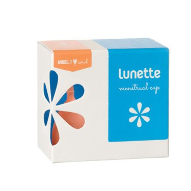Menstrual Cup - Lunette Menstrual Cup Model 1 for Light to Medium Flow - Lunette Menstrual Cup Model 2 for Heavy Flow, Reusable Natural Comfortable Clean and Hygienic Alternative to Menstrual Pads and Tampons (Model 1, Coral)