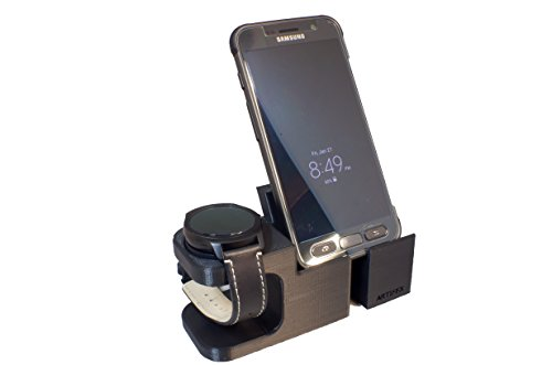 TicWatch 2 Stand, Artifex Charging Dock Stand for Tic Watch 2 Watch, New 3d Printed Technology, Smartwatch Cradle Tic Phone Combo (Combo)