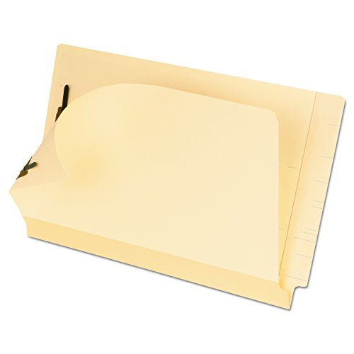 Pendaflex 13220 Laminated Spine End Tab Folder with 2 Fasteners, 11 pt Manila, Legal (Box of 50)
