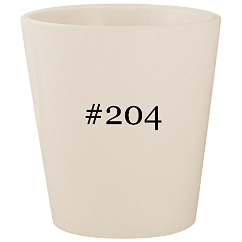 (#204 - White Hashtag Ceramic 1.5oz Shot Glass)