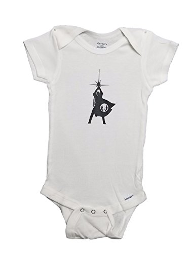 Mari Kyrios Creations Star Wars Baby Onesie New Hope Logo Luke Skywalker Light Saber Jedi Symbol Baby Jumpsuit Pajamas & Bodysuit PJ Romper (3-6 Months)