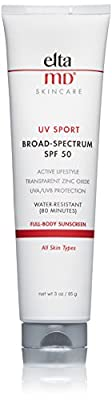 EltaMD UV Sport Sunscreen Broad-Spectrum SPF 50, 3.0 oz