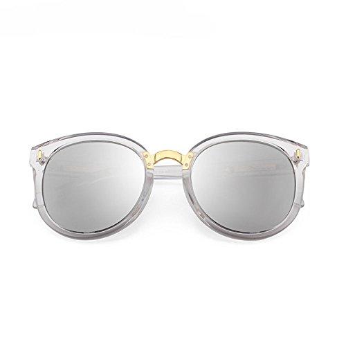 Sunglasses Resina polarizadas Sol Frame 9 14 con 14 Transparent Mercury Frame Rojo Retro Film Color Gafas Powder 4cm diseño Redonda LCCSunglasses Powder de Cara rn7wFYrq