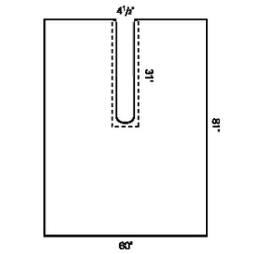 Halyard Health 89333 Impervious Split Drape, Sterile, Large, 60'' x 81'' (Pack of 34)