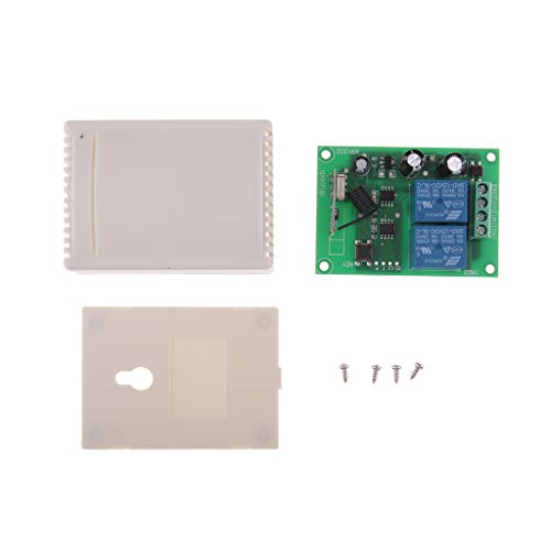 Price comparison product image SM SunniMix DC12V 433MHz RF 2CH Wireless Remote Control 2 Relay Switch Receiver Module