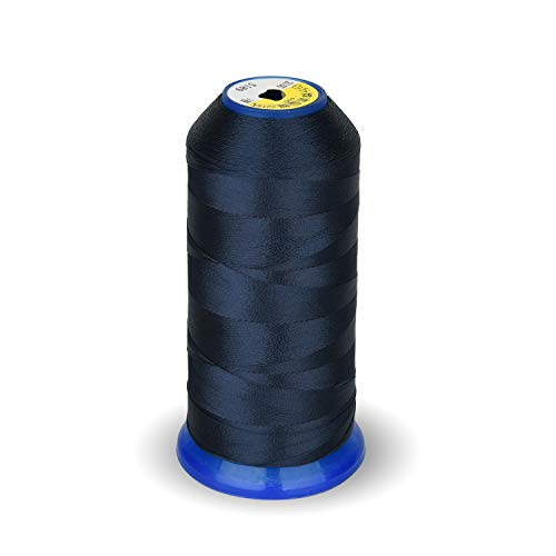 High Strength Polyester Thread Nylon Sewing Thread 1800 Yard Size T70#69 210D/3 for Weaves, Upholstery, Jeans and Weaving Hair, Drapery, Beading, Purses, Leather (Navy Blue) ()