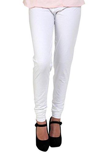 Anekaant Women's Cotton Lycra's Chudidar Free Size White