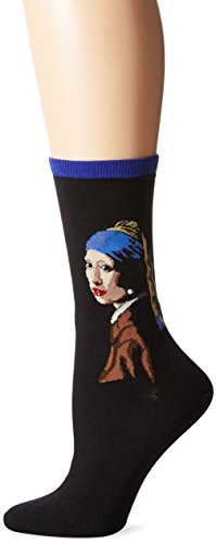 - Hot Sox Women's Artist Series Crew Socks | Girl With The Pearl Earring, Royal Purple, Shoe Size: 4-10