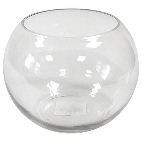 G/én/érique R//VER3004-1 Vase Boule en Verre Transparente 8cm