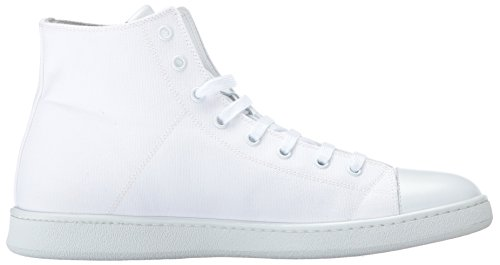 Marc Jacobs Moda Uomo Sneaker In Tela Con Cerniera Bianca