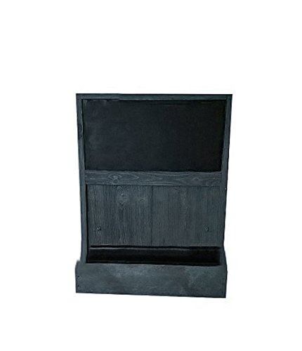 Shop Living Walls SLW-WM19CB-RBL Wall Chalkboard Plant Holder Key Rack, Reclaimed Black by Shop Living Walls