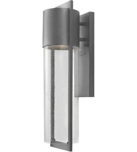 Wall Sconces 1 Light with Hematite Clear Seedy Solid Aluminum LED 21 inch 15 Watts