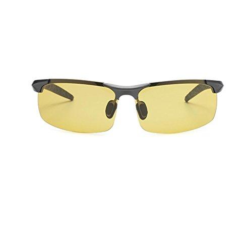 Conducción Black Color De Día Gafas box De Color Claro GAOYANG Box Hombres UV Noche grayed De Conductor Sol Polarizador De Protección Gun Color Los Sol De De De Gafas Change Tea Y Gafas 4xgUn