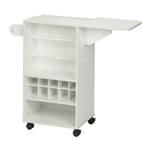 Honey-Can-Do Rolling Craft Storage Cart + Fabric Drawer - White Deal (Large Image)