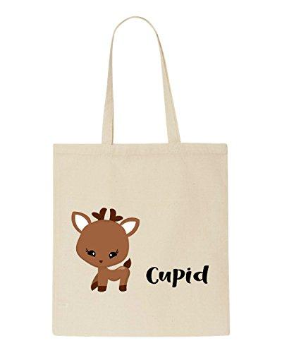 Tote Names Shopper Festive Christmas Reindeer Bag Cupid Beige Character 1OWqRX4gxT