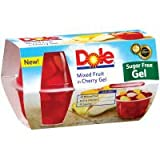 Dole Mixed Fruit in Cherry Gel Sugar Free 4.3 Oz - 6 Pack