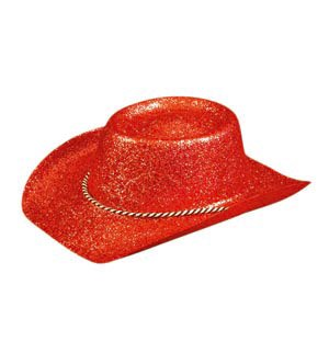 Image Unavailable. Image not available for. Color  Pams Glitter Cowboy Hat  Red 1d9026d8419