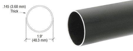 Dark Bronze 1.9'' Diameter Hand Railing Tubing
