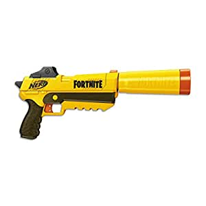 FORTNITE SP-L - NERF Elite Blaster - with Detachable Barrel and 6 Official NERF Fortnite Elite Darts - Kids, Youth, Teens, Adults - Outdoor Toys & Games - Ages 8+