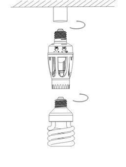 ElectroDH 60256 DH Sensor DE Movimiento para Bombillas E-27
