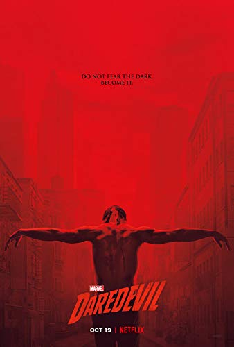 "MARVEL'S DAREDEVIL - 13.5""x20"" Original Promo TV Poster NYCC 2018 Netflix Limited Edition xxxx/4600"