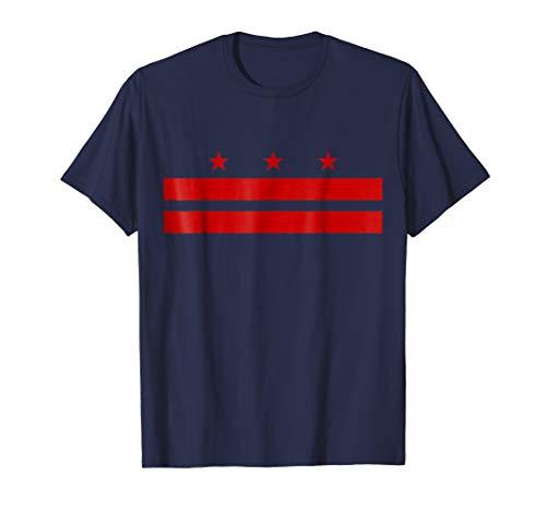 Patriotic State Flag of Washington D.C. T-Shirt