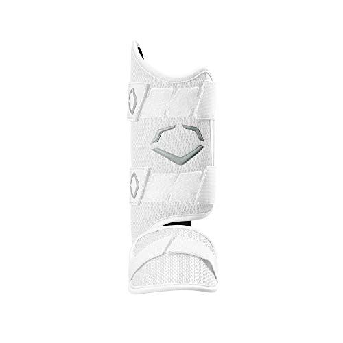 - EvoShield PRO-SRZ Batter's Leg Guard, White - Right-Handed Hitter