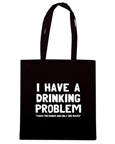 Shirt Nera A Speed Shopper DRINKING BEER0073 Borsa I PROBLEM HAVE twAAOd