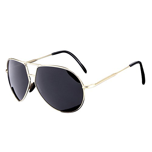 HDCRAFTER Men Retro Polarized Fashion Driver Sunglasses Metal - Cheap Heads For Sunglasses Big