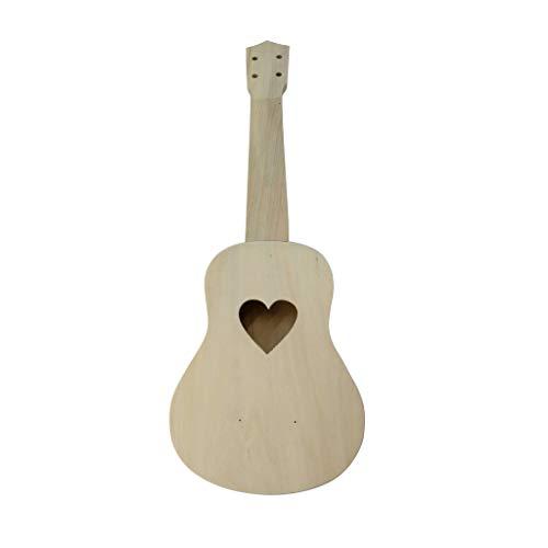 Ukulele DIY Kit,Lmtime Ukulele Hawaii Guitar DIY Kit Wooden Musical Instrument Beginner Kids Gift Make Your Own Ukulele (Multicolor)