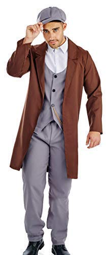 Mens Peak Cap 1920s London Gangster British Halloween Fancy Dress Costume Outfit M L XL (Medium) ()