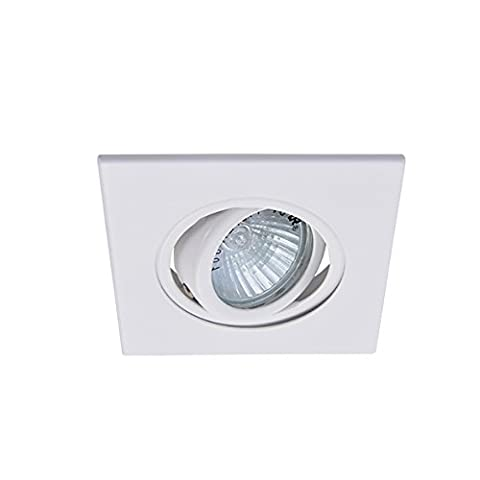 Eco Lighting NY HLV3006WH 3-Inch for both Line/Low Voltage Trim Recessed Light, Adjustable Square Gimbal Ring, All - Low Voltage Trims