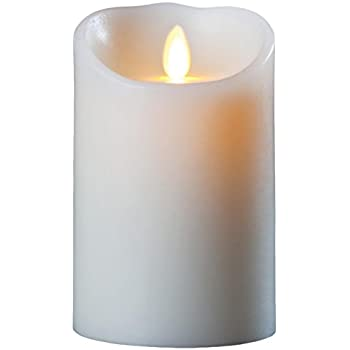 """Luminara Flameless Candle: Vanilla Scented Moving Flame Candle with Timer (5"""" Ivory)"""