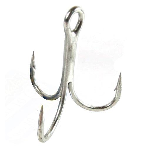 Bend Gamakatsu Round Treble Hook - Gamakatsu Round Bend Treble Hook - Nickel Size 2