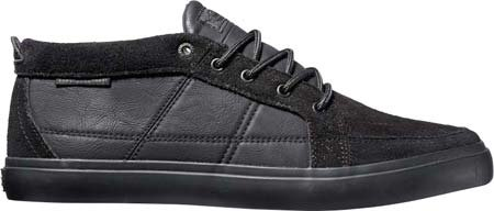 Mens DVS Rivera Crazyhorse Leather Shoe Black Suede kQdA8U