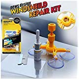 Yoohe Windshield Repair Tool Kits, DIY Car Window Glass Scratch Repair Sets for Fix Auto Glass Windshield Crack Chip Scratch