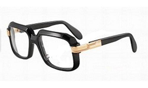 Cazal Eyeglasses 607/2 001 Black/Gold Full Rim Optical Frames - Cazal Frames Vintage