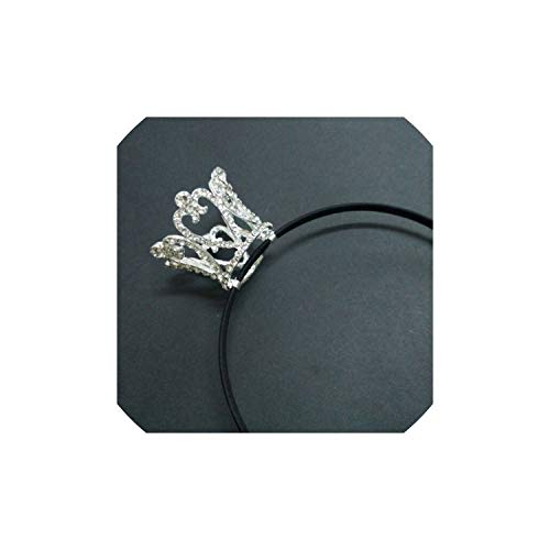 Crown Designs Wedding Tiara Diamante Crystal Rhinestone Hair Combs Headband Headpiece Bridal Jewelry Accessories,Model3 silver