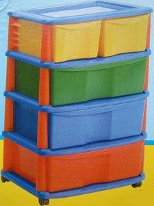 Contico Childrens Plastic Toy Storage Drawers