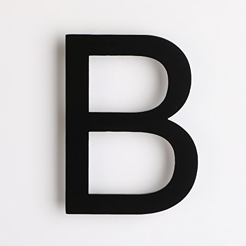 Mellewell Address Number Sign House Letter B 4 inches Black, Made of Stainless Steel 304, HN04HB-B